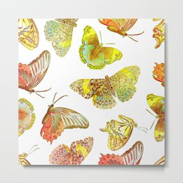 Butterfly Obsession Metal Print