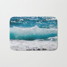 Summer Ocean Waves Bath Mat