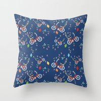 outdoor Throw Pillows featuring Outdoor Fun by curlywillowco