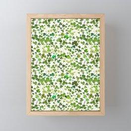 Shamrock and Clover Field Framed Mini Art Print