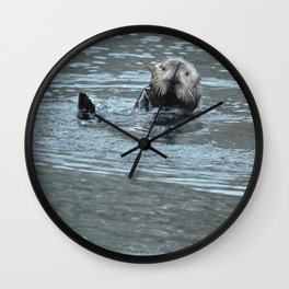 Sea Otter Fellow Wall Clock