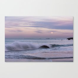 Pastel Ocean Moonrise Canvas Print