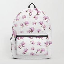 Pink magniolia rain patern Backpack