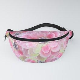 Shocking Pink Flora Gems Fanny Pack