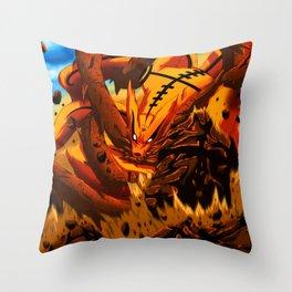 kyuubi angry Throw Pillow