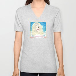 Dolly Parton American Angel Unisex V-Neck