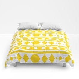 Tribal pattern Yellow Comforters