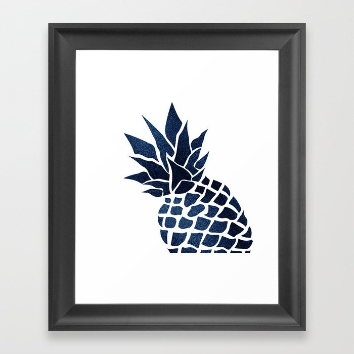 Pineapple, Big Blue, Denim Navy Gerahmter Kunstdruck