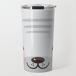 Kawaii funny gray seal Travel Mug
