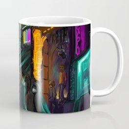 Cyberpunk alley Coffee Mug