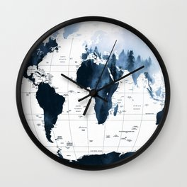 ALLOVER THE WORLD-Woods fog map Wall Clock
