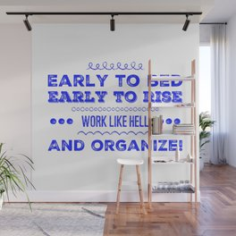 Work & Organize Wall Mural