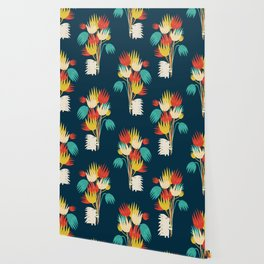 Hedgehog with flowers Wallpaper