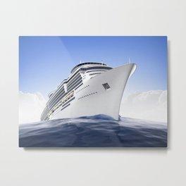 Cruise Ship Metal Print