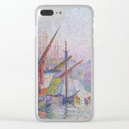 View of the Port of Marseilles Clear iPhone Case