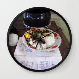 Buddist Food Offering Wall Clock