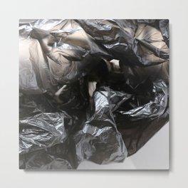 black plastic 02 Metal Print