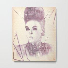 Shattering The Mold - Janelle Monae Metal Print