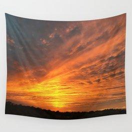 Pillar Sunset Wall Tapestry