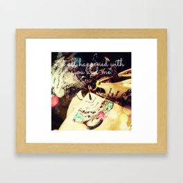 Itt all happened.... Framed Art Print