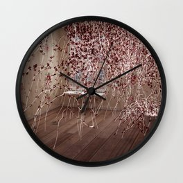 Electric Flowers Wall Clock