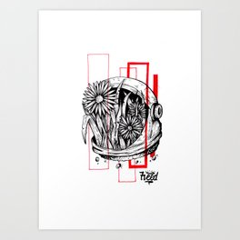 Floralnaut Art Print