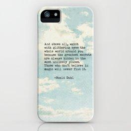 Roald Dahl Glittering Eyes iPhone Case