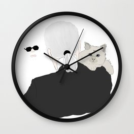 Karl Lagerfeld and Choupette Wall Clock