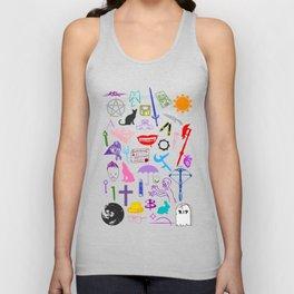 Buffy Symbology, Multi-color / Rainbow / PRIDE! Unisex Tank Top