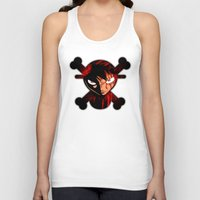 luffy Tank Tops featuring BLOODY LUFFY by feimyconcepts05