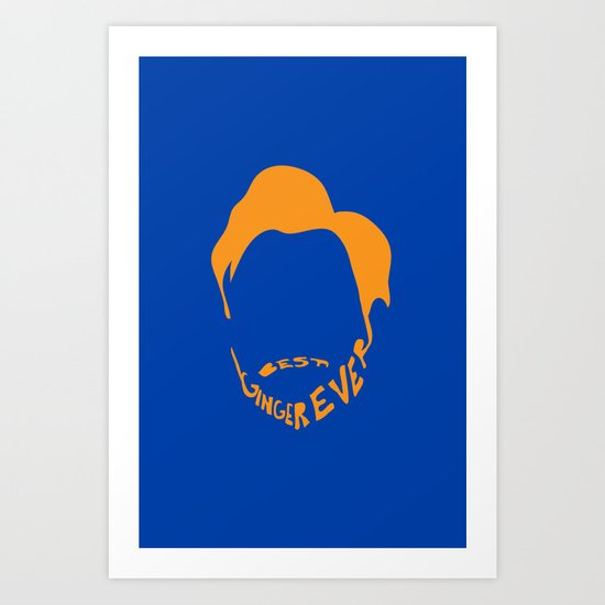 Best Ginger Ever. Art Print