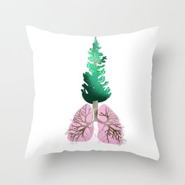 organic lungs Throw Pillow