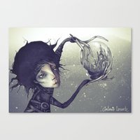 edward scissorhands Canvas Prints featuring Edward Scissorhands by Antonio Lorente