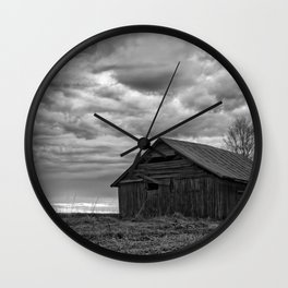 Finland Farm (Black and White) Wall Clock