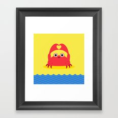 I Love the Beach Framed Art Print