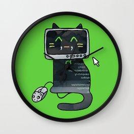 Programmer cat  makes a website Wall Clock