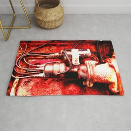 Red Engine Rug