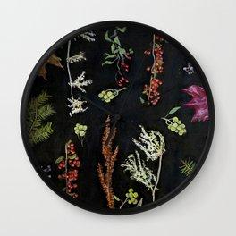 Festivus Botanicus Wall Clock