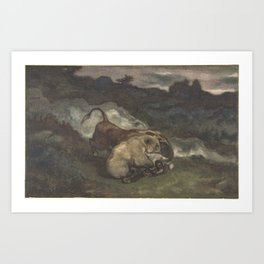 Bear Killing a Bull Art Print