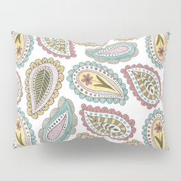 paisley pattern in pale colors Pillow Sham