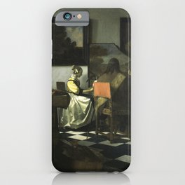 Stolen Art - The Concert by Johannes Vermeer iPhone Case