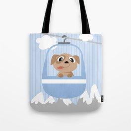 Mobil series cable car dog Tote Bag