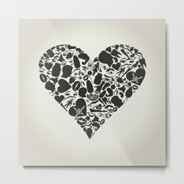 Heart of a part of a body Metal Print