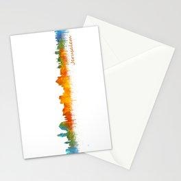Jerusalem City Skyline Hq v2 Stationery Cards