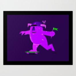 Barry Skate monster Art Print