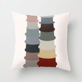 Life stacking pots Throw Pillow