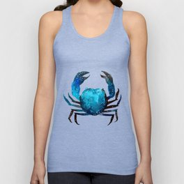 Cerulean blue Crustacean Unisex Tank Top