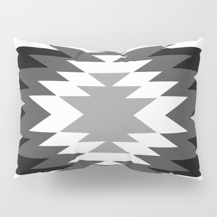 Aztec - black and white Pillow Sham