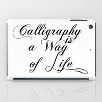 calligraphy iPad Cases featuring Calligraphy by muffa