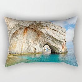 The famous Blue Caves in Zakynthos island, Greece Rectangular Pillow